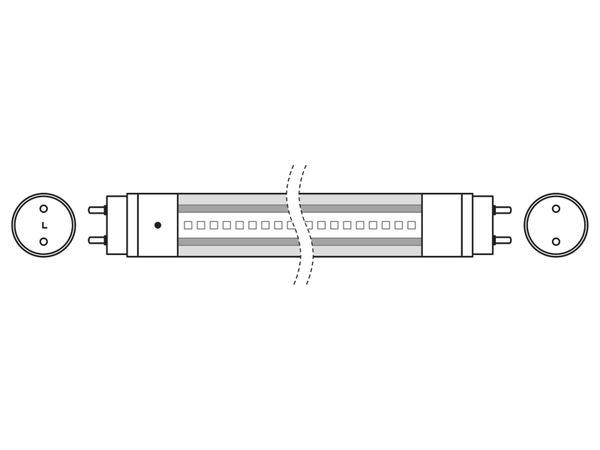 LED-Röhre OSRAM Substitube Star, G13, EEK: A+, 19,1 W, 2000 lm, 150 cm, 4000 K - Produktbild 5