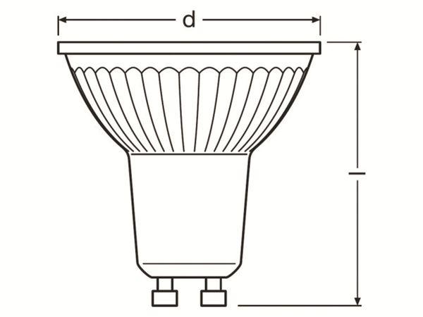 LED-Lampe OSRAM PARATHOM, PAR16, GU10, EEK: A+, 8 W, 575 lm, 2700 K, dimmbar - Produktbild 3