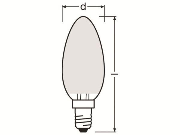 LED-Lampe OSRAM RETROFIT Classic B, E14, EEK A++, 4 W, 470 lm, 2700 K - Produktbild 3