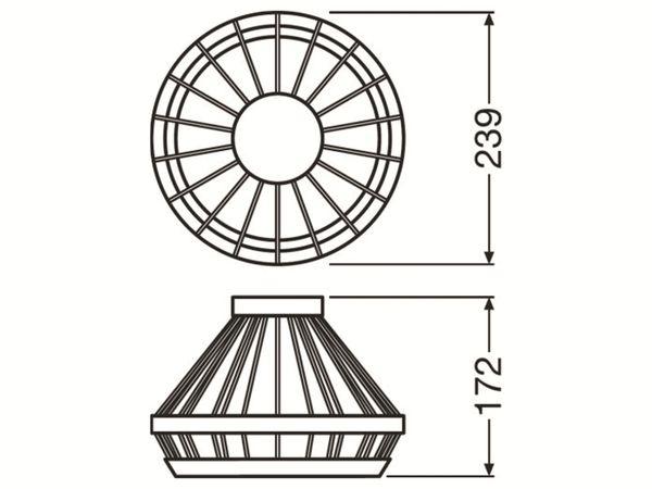 Lampenschirm LEDVANCE Vintage 1906 Cage Gold, 239 mm - Produktbild 3
