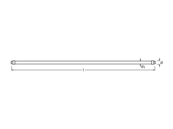 LED-Röhre OSRAM Substitube Advanced UO HF, G13, EEK: A++, 23 W, 3600 lm, 150 cm, 6500 K, EVG - Produktbild 3