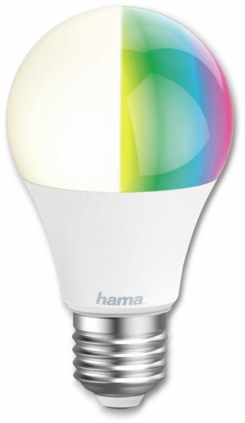 LED-Lampe HAMA, WLAN, E27, 10 W, EEK: A+, 806 lm, RGB + CCT, dimmbar