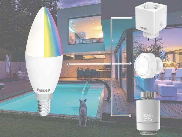 LED-Lampe HAMA, WLAN, E14, 5,5 W, EEK: A+, 470 lm, RGB + CCT, dimmbar - Produktbild 3