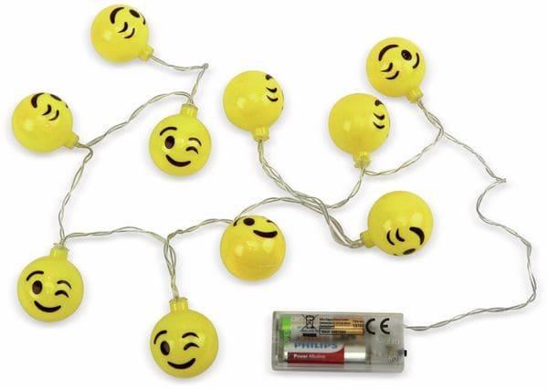 LED-Sommerlichterkette GRUNDIG, 10 LEDs, Smiley