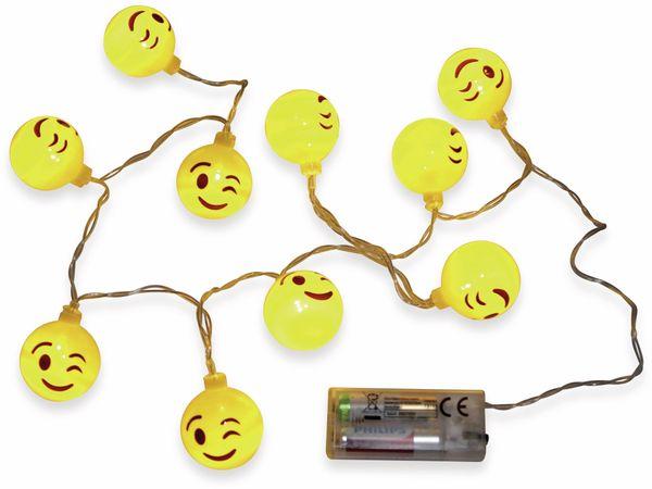 LED-Sommerlichterkette GRUNDIG, 10 LEDs, Smiley - Produktbild 2