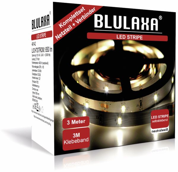 LED-Strip BLULAXA 49142, 7,5 W, 650 lm, 4000 K, 3 m - Produktbild 2