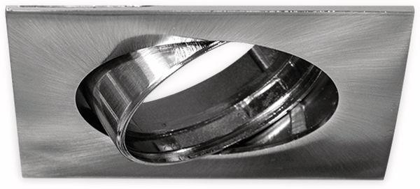 Deckeneinbaurahmen BLULAXA, GU10, 25° schwenkbar, quadratisch, Edelstahloptik