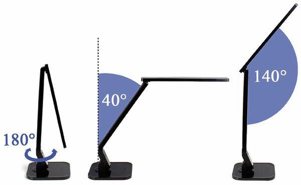 LED-Schreibtischleuchte BLULAXA 47615, 11 W, EEK: A, 530 lm, dimmbar, schwarz - Produktbild 3