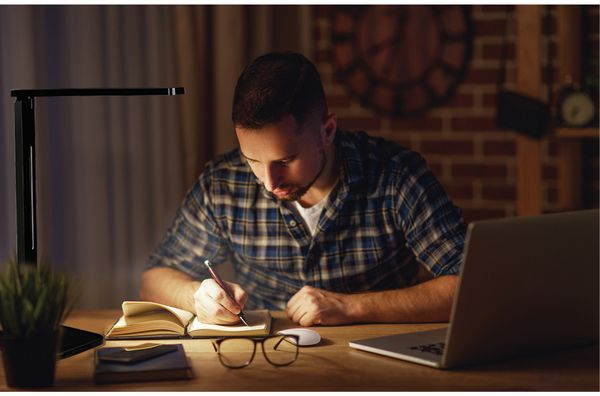 LED-Schreibtischleuchte BLULAXA 47615, 11 W, EEK: A, 530 lm, dimmbar, schwarz - Produktbild 6