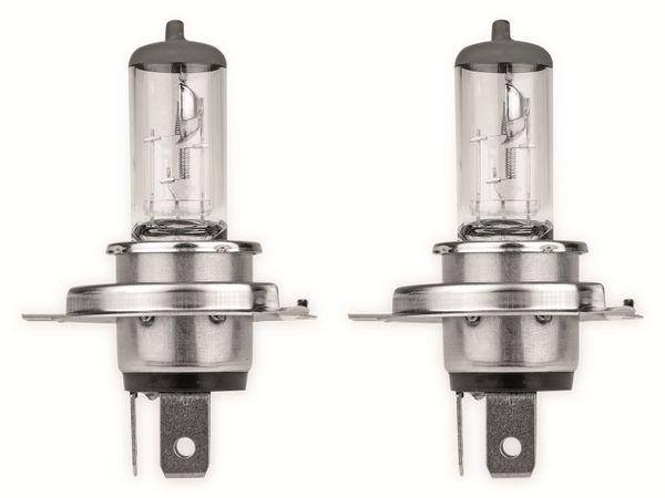 Halogen-Autolampe EUFAB H4, 12V, 60/55W, P43T, 2 Stück