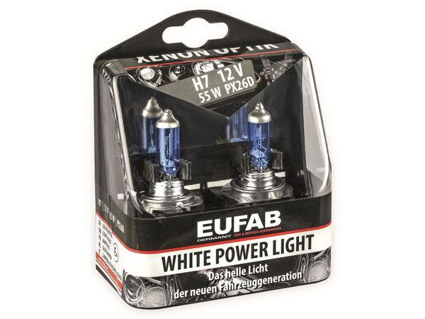 Halogen-White Power Light EUFAB H7, 12V, 55W, PX26D, 2 Stück - Produktbild 2