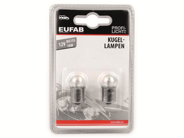 KFZ-Glühlampe EUFAB 12 V, 10 W, BA15S, 2 Stück - Produktbild 2