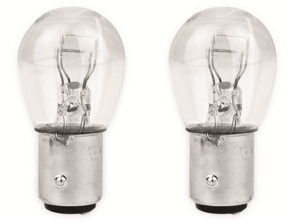 KFZ-Glühlampe EUFAB 12 V, 21/5 W, BAY15D, 2 Stück