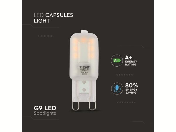 LED-Lampe VT-1946 (4466), G9, EEK: G, 2,5 W, 200 lm, 3000 K - Produktbild 3