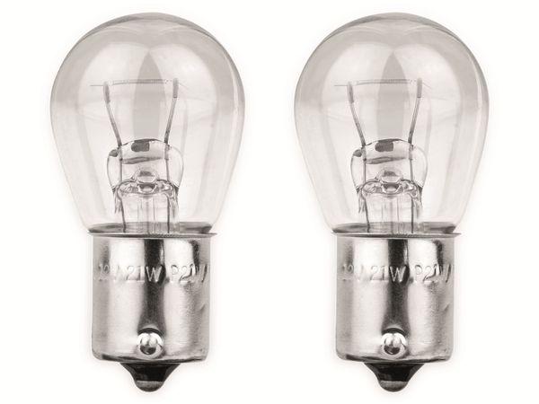 KFZ-Glühlampe EUFAB 12 V, 21 W, BA15S 2 Stück