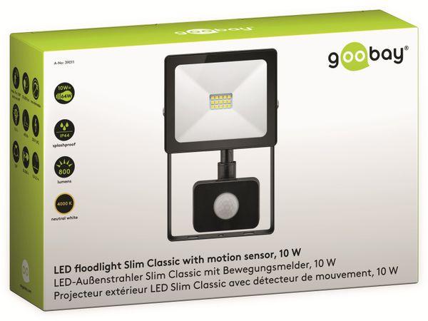 LED-Fluter GOOBAY Slim Classic 39011, EEK: A+, 10 W, 800lm, 4000 K, IP 44, schwarz - Produktbild 4