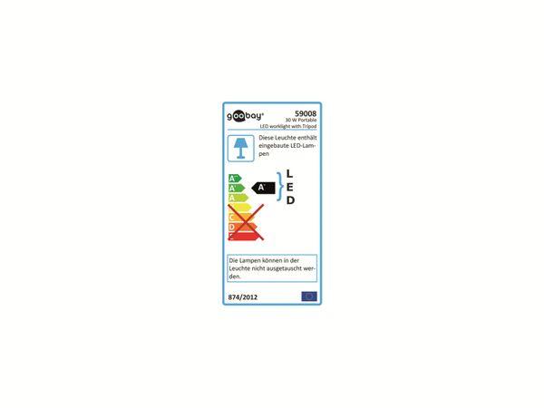 LED-Strahler GOOBAY 59008, Teleskopstativ, EEK: A+, 30 W, 2500 lm, 6500 K, IP 65 - Produktbild 4