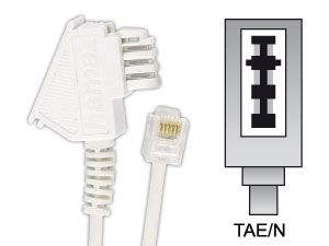 Telefon-Anschlusskabel, TAE/N