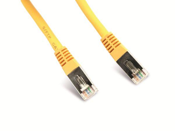 Netzwerkpatchkabel CAT.6 , RJ45, 1:1, 0,5 m, gelb