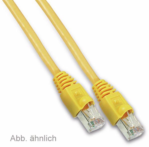 Netzwerkpatchkabel CAT.6 , RJ45, 1:1, 2 m, gelb