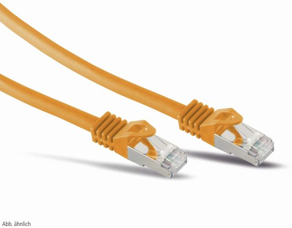 RJ45 Patchkabel S/FTP (PIMF), m. CAT.7 Rohkabel, 0,5 m