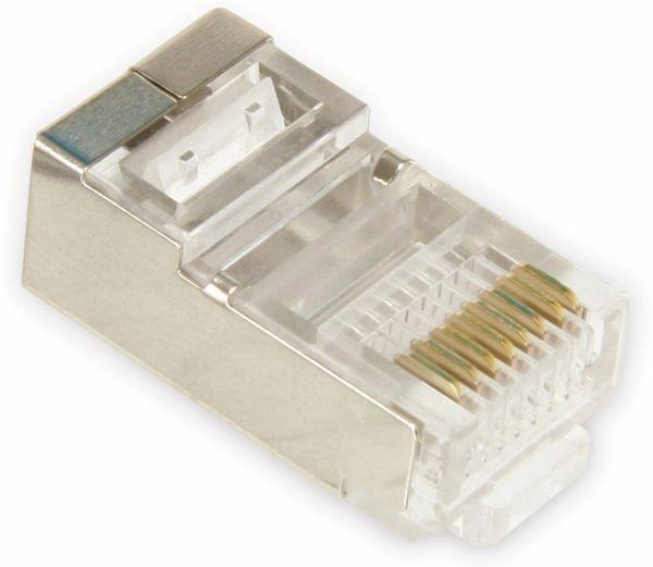 Western-Modularstecker für Rundkabel, 8P8C, 10 Stück