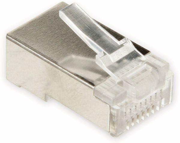 Western-Modularstecker für Rundkabel, 8P8C, 10 Stück - Produktbild 2