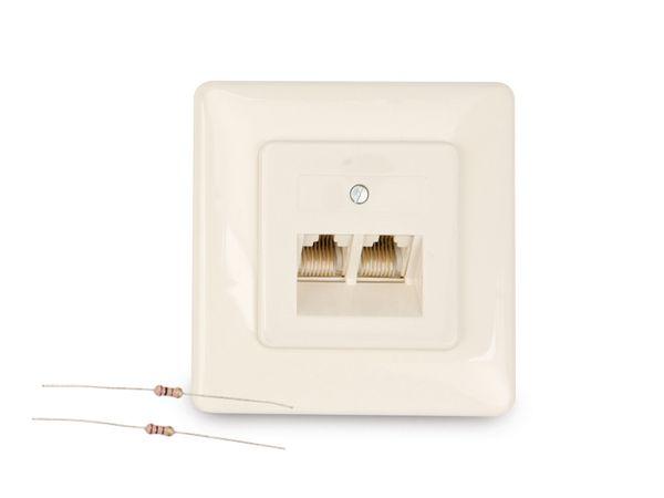 ISDN-Doppeldose 8(8), mit Abschlusswiderständen