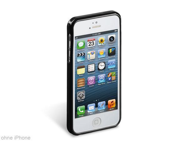 TPU Handy-Cover für iPhone 5, schwarz - Produktbild 1