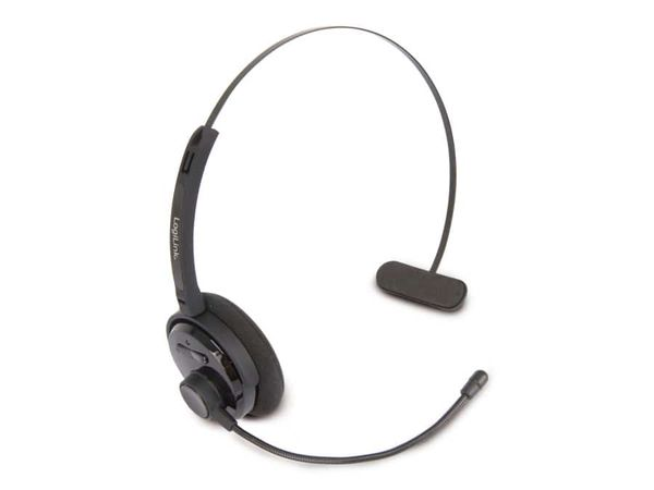Bluetooth Headset LOGILINK BT0027, schwarz - Produktbild 1