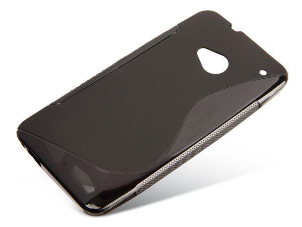 TPU Handy-Cover für HTC ONE, schwarz - Produktbild 1