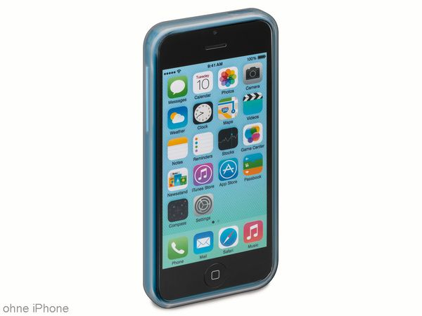 Handy-Cover für iPhone 5C GOOBAY, grau/transparent - Produktbild 1