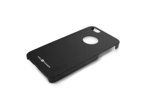 Back Cover für iPhone 5, Hartschale, schwarz, RED4POWER