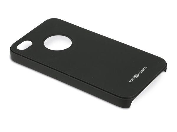 Back Cover für iPhone 4/4S, Hartschale, schwarz, RED4POWER - Produktbild 1