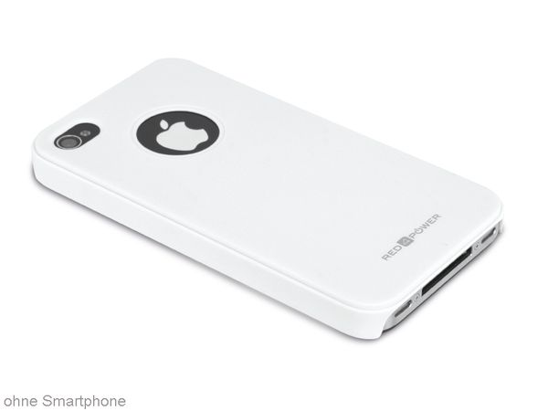 Back Cover für iPhone 4/4S, Hartschale, weiß, RED4POWER - Produktbild 1