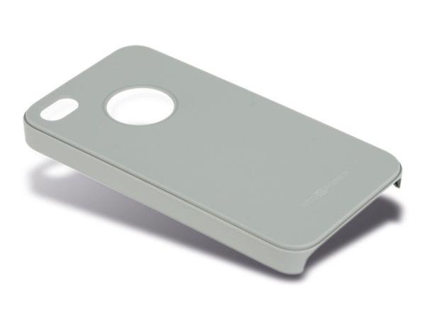 Back Cover für iPhone 4/4S, Hartschale, grau, RED4POWER - Produktbild 1