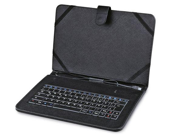 tablet tasche mit tastatur hama 50467 7 otg schwarz. Black Bedroom Furniture Sets. Home Design Ideas