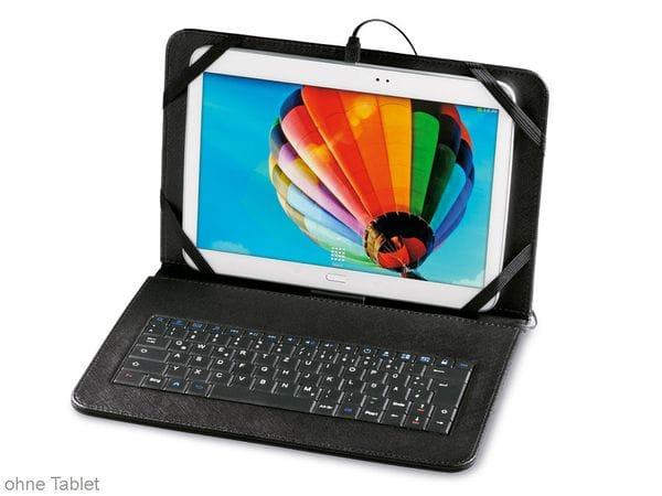 tablet tasche mit integrierter tastatur hama 50469 10 1. Black Bedroom Furniture Sets. Home Design Ideas