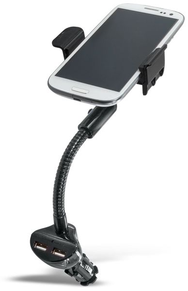 Smartphone KFZ-Halterung LOGILINK PA0121, 2x USB