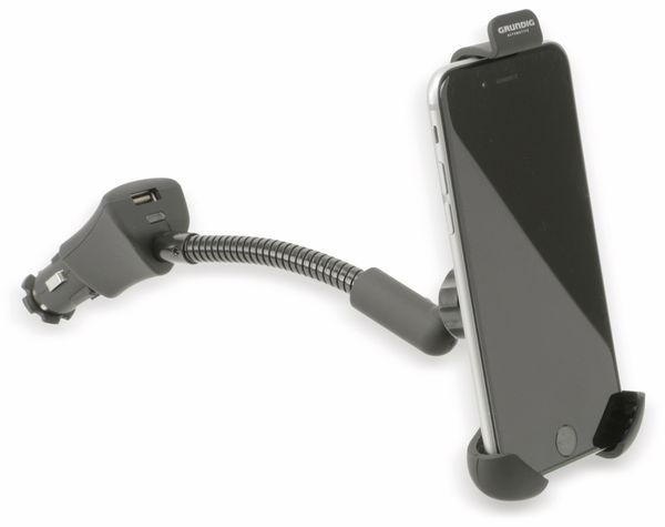 Smartphonehalter GRUNDIG, KFZ-Lader, schwarz - Produktbild 1