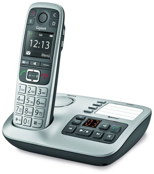 Schnurloses DECT-Großtasten-Telefon GIGASET E560A, mit Anrufbeantworter