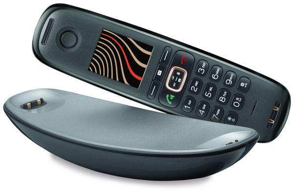 Schnurloses DECT-Telefon GIGASET CL750HX Sculpture, schwarz-graphit