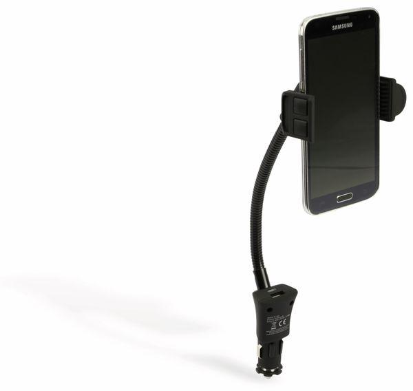 USB-Lader mit KFZ-Halterung für Smartphones, 2-Punkt, 2-fach, 5 V-/3,1 A