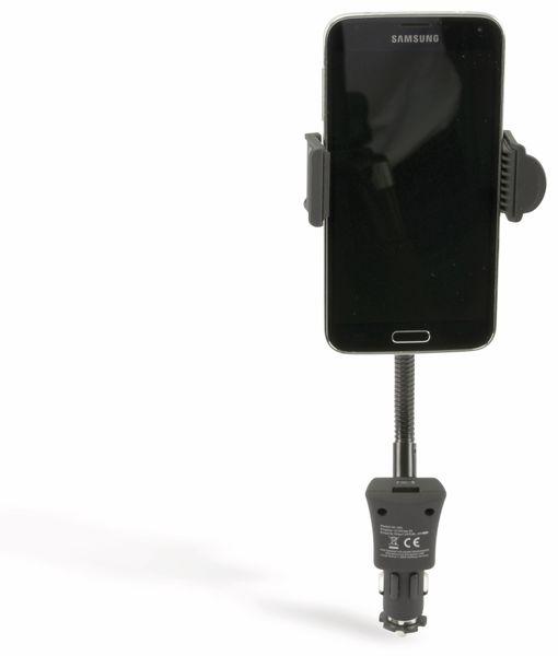 USB-Lader mit KFZ-Halterung für Smartphones, 2-Punkt, 2-fach, 5 V-/3,1 A - Produktbild 2