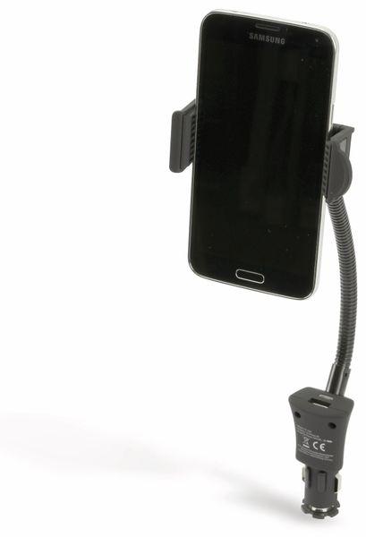 USB-Lader mit KFZ-Halterung für Smartphones, 2-Punkt, 2-fach, 5 V-/3,1 A - Produktbild 3