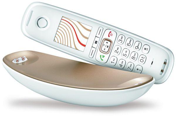 Schnurloses DECT-Telefon GIGASET CL750HX Sculpture, weiß-champagner, B-Ware