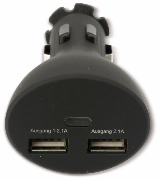 USB-Lader mit KFZ-Halterung für Smartphones, 2-Punkt, 5 V-/3,1 A - Produktbild 5