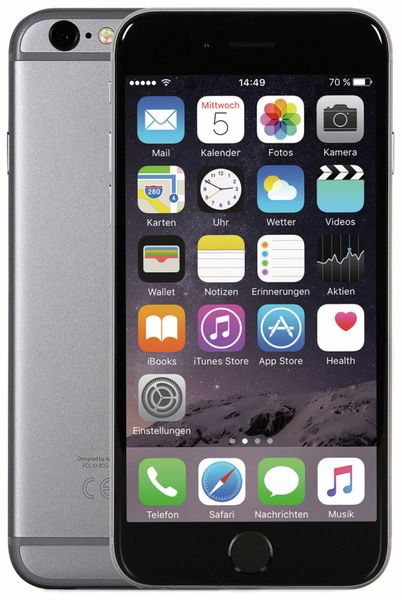 Smartphone APPLE iPhone 6, 64 GB, Space Grau, Refurbished - Produktbild 1