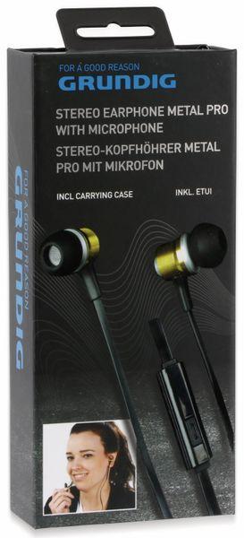 In-Ear Headset mit Flachkabel GRUNDIG 86353, gold/schwarz - Produktbild 7