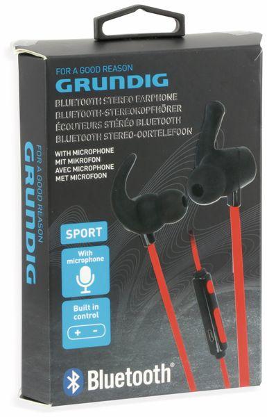 In-Ear Bluetooth Headset GRUNDIG 06586, rot/schwarz - Produktbild 4